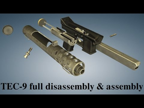 Intratec TEC-9: full disassembly & assembly
