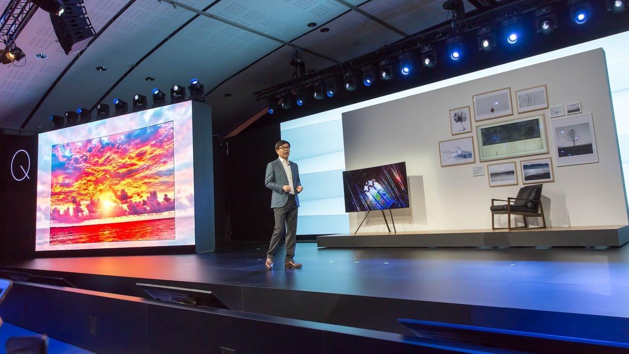 c115ba1fa Samsung uvádza nové QLED televízory - YouTube