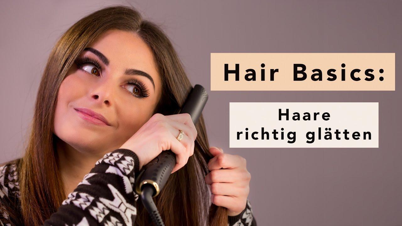 Haare Glätten Mit Glätteisen Hair Tutorial Youtube