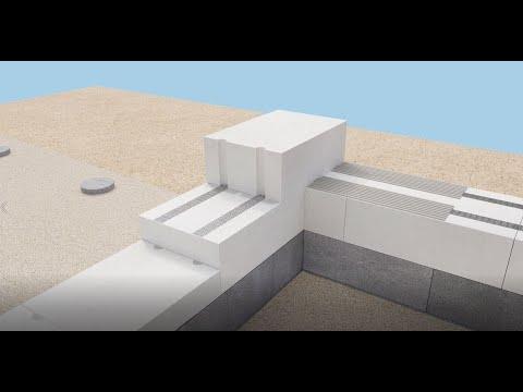 Enskikts yttervägg av Bauroc ECOTERM+ byggblock. MONTERINGSINSTRUKTION.