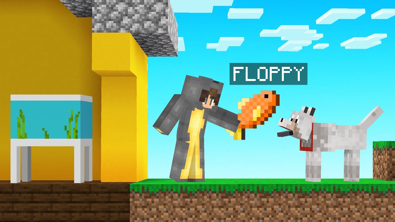 I FED My Best Friends FISH To My DOG! (Minecraft)