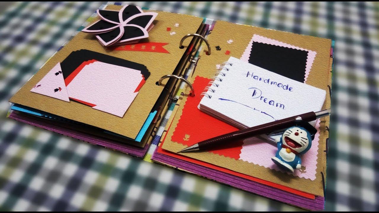 Hướng dẫn chi tiết làm Scrapbook   DIY   How to make Scrapbook   Handmade Dream(HN)