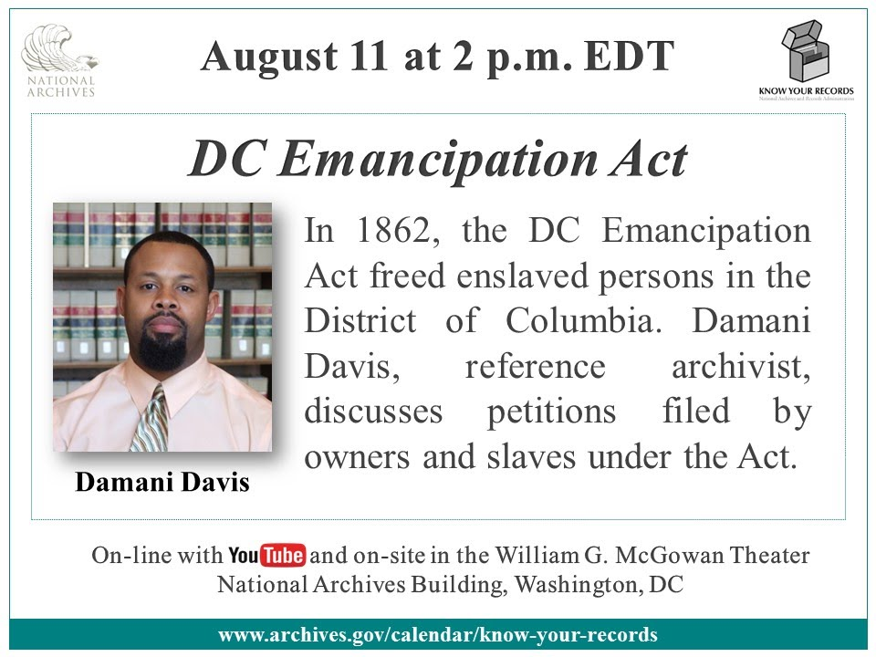 DC Emancipation Act: COMPELLING LECTURE ((SLAVE OWNERS)) PAID REPARATIONS