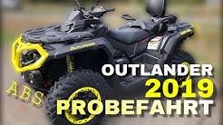 Canam Outlander 2019 mit ABS | Probefahrt Deutsch Quad Vlog OCNR