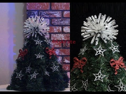 DIY - Wire Hanger Christmas Tree