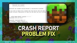 Minecraft - How To Fix Crash Report - Windows 10 (Minecraft Crashes on PC Fix)