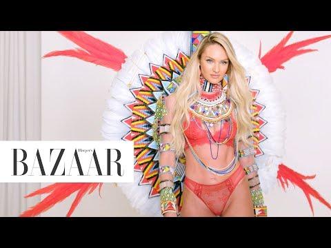 Supermodel Candice Swanepoel Returns to the Victoria's Secret Fashion   Harper's BAZAAR