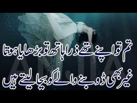 2 line urdu poetry Urdu sad poetry  || Zain Records