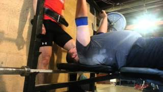 280lbsX5 paused raw bench press