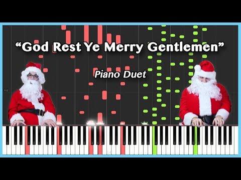 God Rest Ye Merry Gentlemen [SYNTHESIA] | Frank & Zach Piano Duets