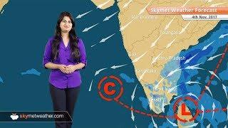 Weather Forecast for Nov 4: Rain in Chennai, TN, AP, Kerala as Northeast Monsoon to be vigorous