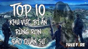 Free Fire | TOP 10 Khu Vực Bí Ẩn và Rùng Rợn Nhất Đảo Quân Sự | Rikaki Gaming