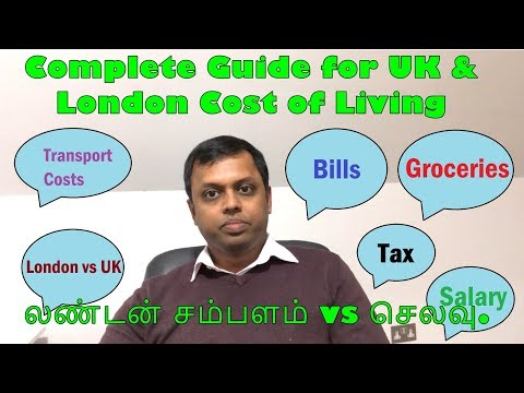 Complete Guide For UK & London Cost Of Living - Tamil Commentary