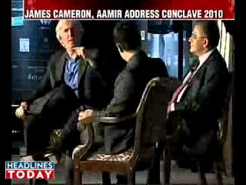 Aamir Khan, James Cameron at the India Today Conclave 2010 - part 1