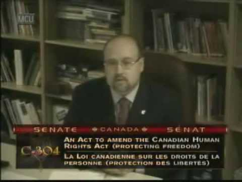 Brian Storseth's testimony before the Senate Committee reviewing Bill C-304