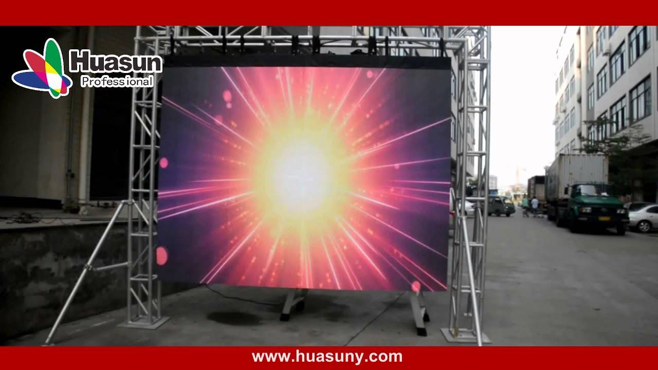 Skype huasun607 semi outdoor flexible led screen p6 for Exterior led screen