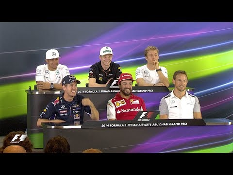 The Longest Press Conference Question Ever?!   2014 Abu Dhabi Grand Prix