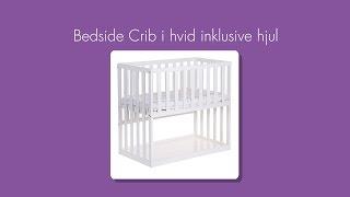 Childhome Bedside Crib i hvid inklusive hjul - Babyshower.dk