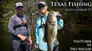 Bass Fishing in Texas with LunkersTV during the Spawn