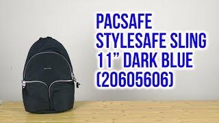 Розпакування Pacsafe Stylesafe Sling 11'' Dark Blue 20605606