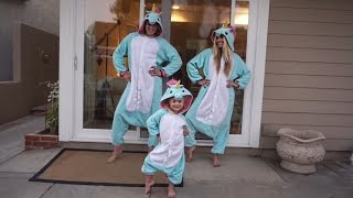 juju on dat beat in unicorn onesies vlog   cole labrant savannah soutas everleigh