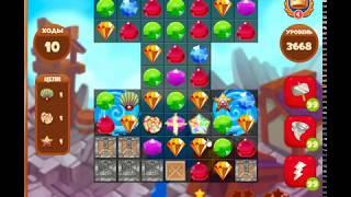 3668 уровень в игре Сокровища Пиратов