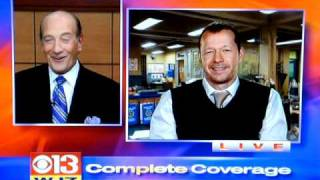 Donnie Wahlberg on WJZ Baltimore News 11/11/10