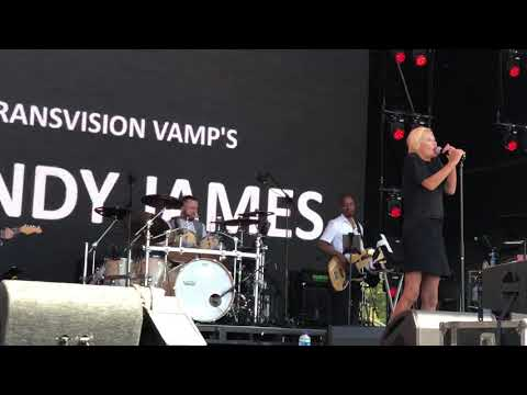 Transvision Vamp's Wendy James - I Don't Care - Live - 2018