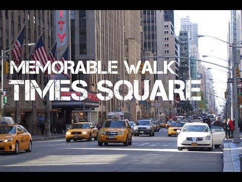 Walking in Times Square New York 2018 - YouTube