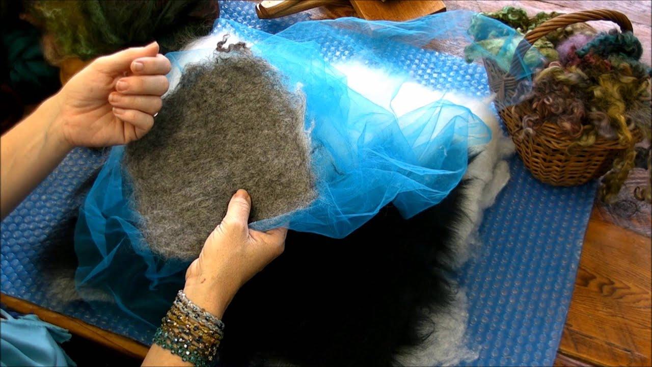 Wet felting basics by sarafina fiber art youtube wet felting basics by sarafina fiber art baditri Images