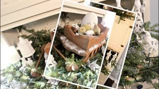 Vintage Inspired Holiday Home Tour {rustic Glam Christmas}