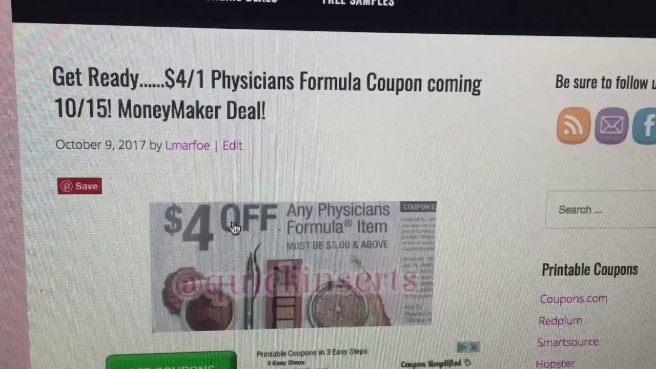 picture about Printable Formula Coupons called Video clip #2: Additional Pertaining to THE Magic formula $4/1 Medical practitioners Formulation COUPON!