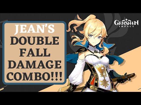 Jean's Double Fall Damage Combo (50k+ Damage) | Genshin Impact