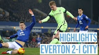 HIGHLIGHTS | Everton 2-1 City | Capital One Cup Semi Final 1st Leg