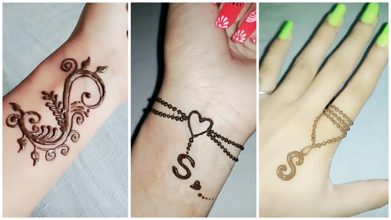 a and s mehndi design