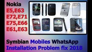 Download lagu WhatsApp installation on Symbian fix 2018 (Nokia E5,E62,E63, E71)