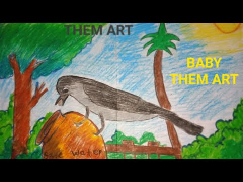 Easy Them ART WITH BABY#RJ GIRLS STYLE#Baby Art,Them Art, Thirsty CrowR