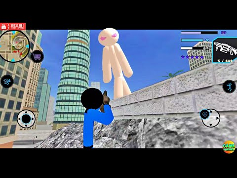 US Police Stickman Rope Hero VS Giant Stickman/ Android Game Simulator HD - 동영상