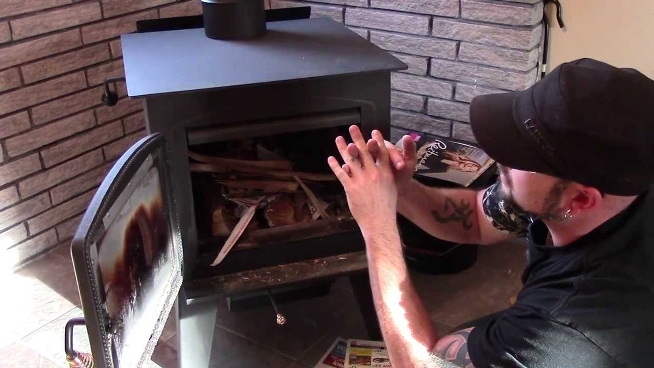 HOW TO LIGHT FIRE N WOOD STOVE ( VAPOUR LOCK) - HOW TO LIGHT FIRE N WOOD STOVE ( VAPOUR LOCK) - YouTube