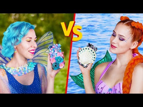10 DIY Mermaid vs Fairy Lifestyle Ideas