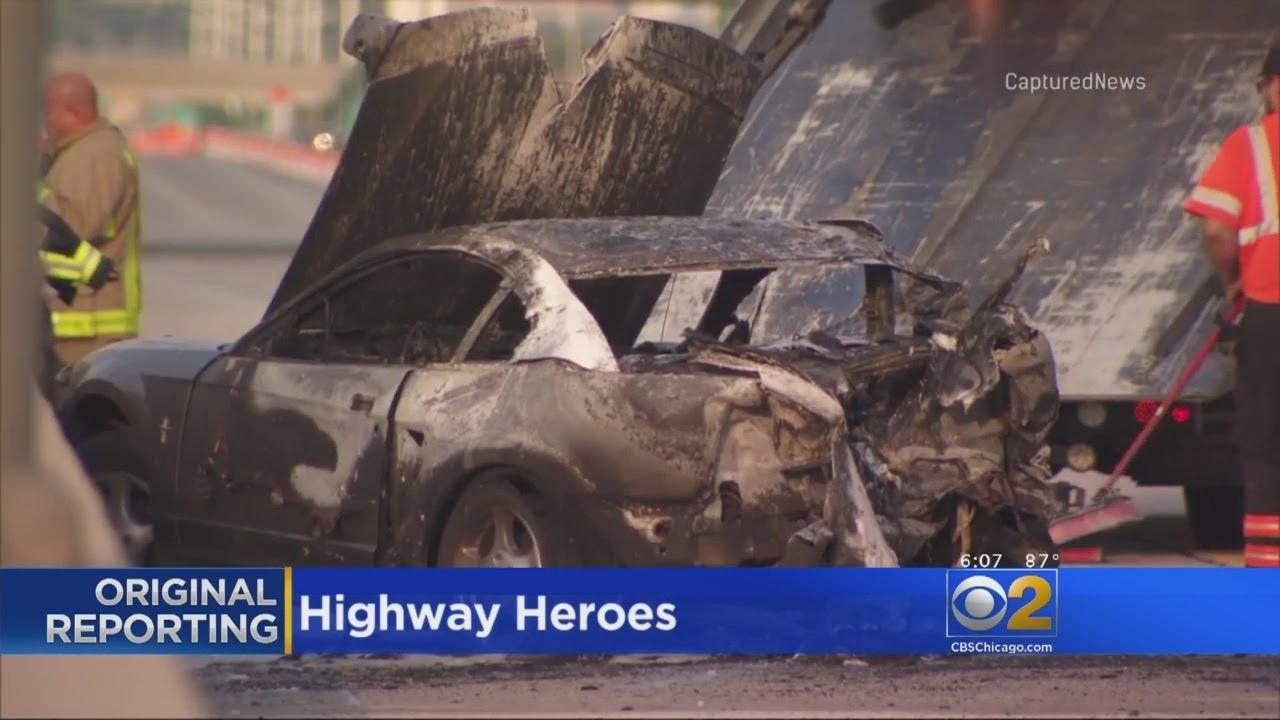 Cadets Rescue Woman From Fiery I-88 Car Crash