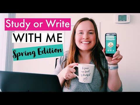 Study Or Write With Me - Spring Edition (1 Hour With Music, Timer, And Break) | PhD Candidate