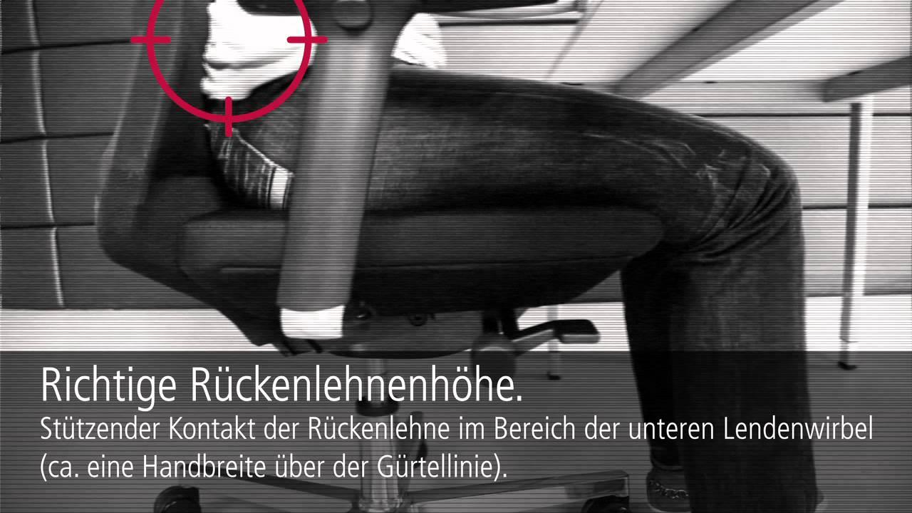 ergonomie am arbeitsplatz mission backbone youtube. Black Bedroom Furniture Sets. Home Design Ideas