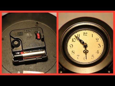 HOW TO REPLACE A QUARTZ CLOCK MECHANISM