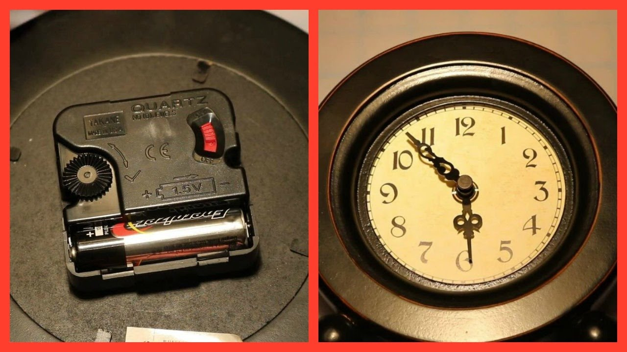 How To Replace A Quartz Clock Mechanism Youtube