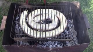 Домашняя колбаса запеченная на мангале