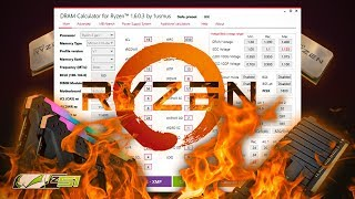 импорт данных в DRAM Calculator for Ryzen