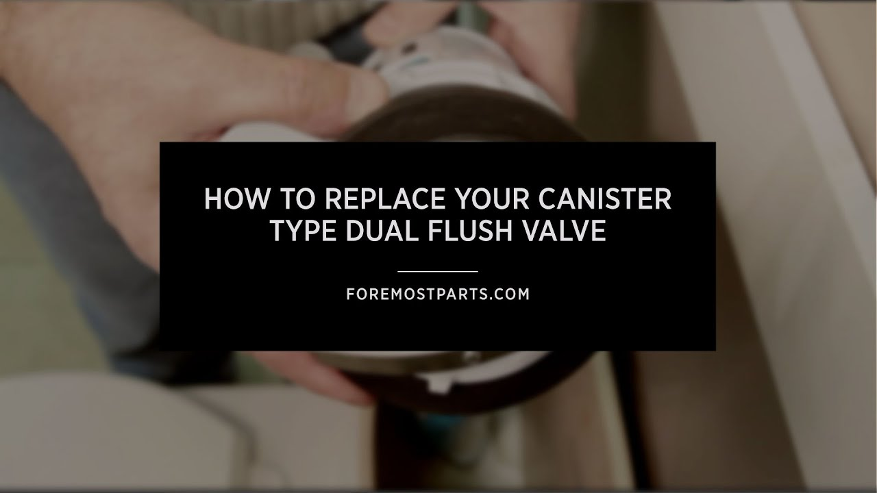 How To Replace Your Canister Type Dual Flush Valve - YouTube