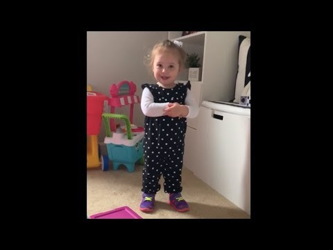Toddler adorably debates her right to play with brother's toy