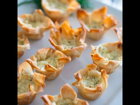 Creamed Green spinach Phyllo Cups